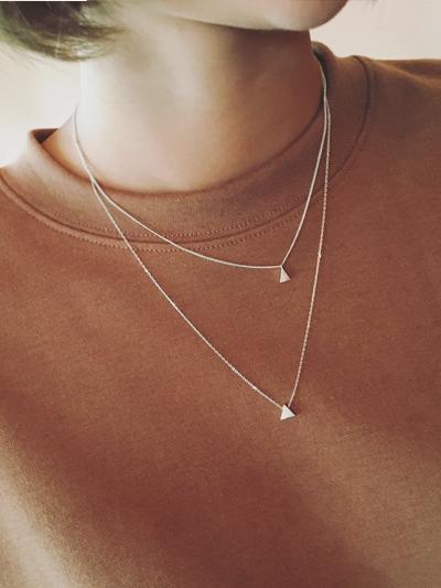 롱숏삼각-necklace