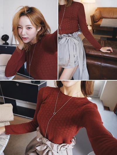 슬림핏니트-knit