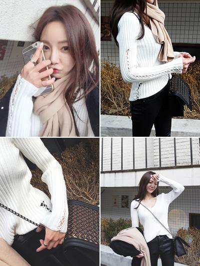 꼬임브이넥니트-knit(12/5일이후순차발송)